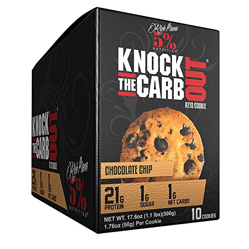 Rich Piana 5% Nutrition 'KTCO' Knock The Carb Out Keto Cookies, High Protein Cookie Snack, 1 Gram Net Sugar, Keto-Friendly...