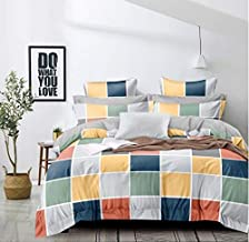 TIB Cotton Feel Polycotton King Size Bed Sheet with 2 Pillow Covers,90X100 Inches, Box Multi