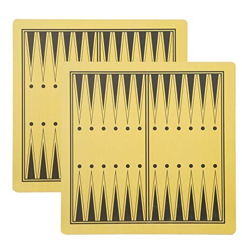 DAUERHAFT Tablero de ajedrez de Madera de Dos Caras, 2 Piezas, protección del Medio Ambiente, Adecuado para ajedrez, Damas, Damas, Backgammon