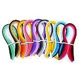 Papel de Quilling Bricolaje Herramientas Kits Colores para Filigranas Set Filigrana Tiras de Papel de Colores Creación Flores El Papel para Bricolaje Fiestas Boda Decoración 9 Piezas