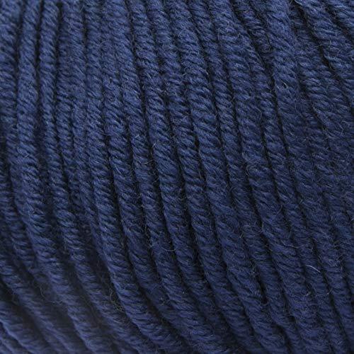 ggh Samson | Merino Wolle (muelsing Free) | Lauflänge ca. 85m auf 50g | Wolle zum Stricken oder Häkeln | Farbe 043 - Entenblau