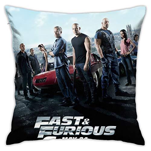 Fast Fu-rious - Funda de cojín cuadrada para sofá, silla, sofá, dormitorio, sala de estar, decoración del hogar, 45,7 x 45,7 cm