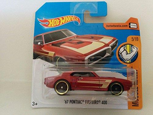 2017 Hot Wheels Muscle Mania \'67 Pontiac Firebird 400 Metallic Red 284/365 (Short Card)