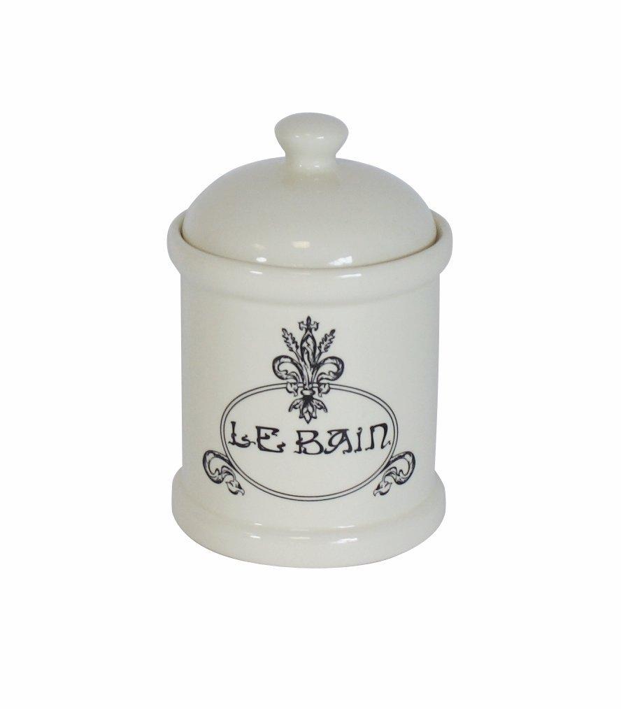 Campanet 356447 Le Bain - Bote para algodón (19 cm), Color Crema y Negro: Amazon.es: Hogar