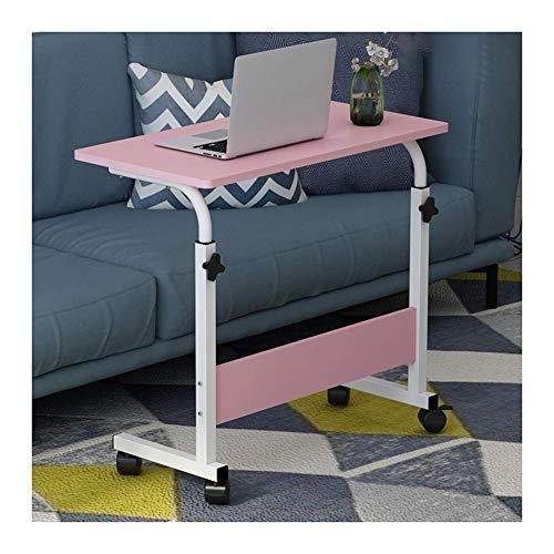 Mobiler Laptop Tisch Sofa Seite Laptop Notebook Schreibtisch PC Ständer höhenverstellbar, Tage Überbetttisch (Farbe: Ahorn, Größe: 80x50cm)