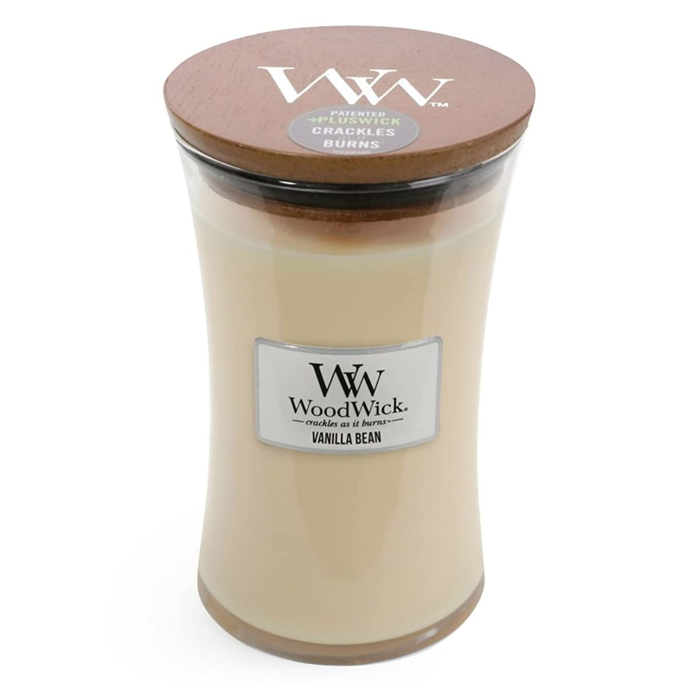 Vanilla Bean WoodWick Glass Jar Scented Candle, Large 22 oz.