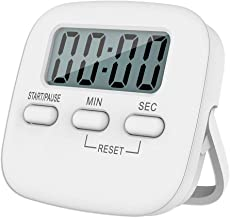 P-Plus International Digital Kitchen Timer & Stopwatch, Large Digits, Loud Alarm, Magnetic Stand Round