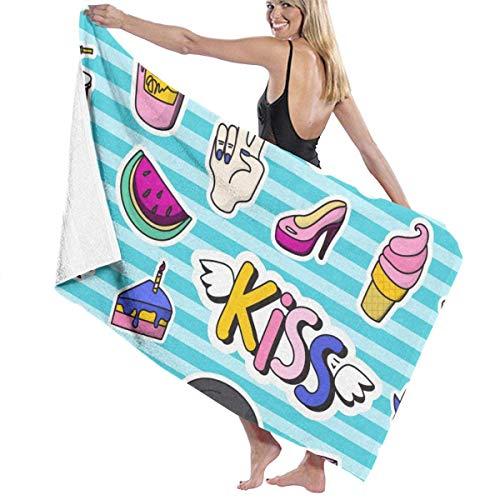 Olie Cam Insignias de Parche de Moda de Colores Toallas de Playa Toallas de Piscina de SPA súper absorbentes de Secado rápido