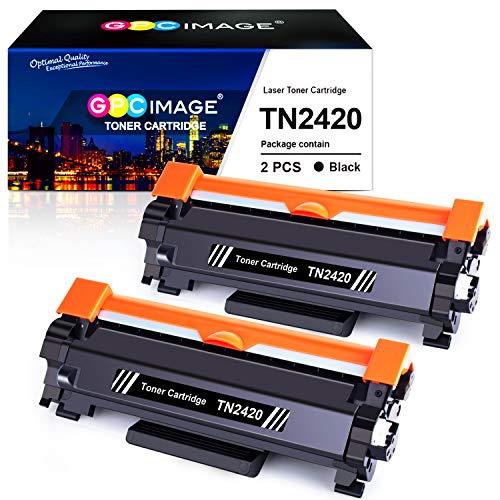 GPC Image Kompatibel Toner Patronen Ersatz für Brother TN2420 TN-2420 TN2410 TN-2410 für Brother MFC-L2710DW MFC-L2710DN HL-L2350DW HL-L2375DW MFC-L2750DW HL-L2310D DCP-L2530DW (Schwarz, 2-Pack)
