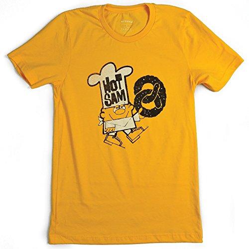 Bygone Brand Hot Sam Pretzels Shortsleeve Men's T-Shirt L Gold