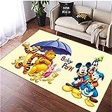 Carpet Rugs Bedroom Balcony Living Room Rectangle Cartoons Anime Mickey Winnie The Pooh Children Game Mat Sofa Home Decoration Floor Anti-Slip