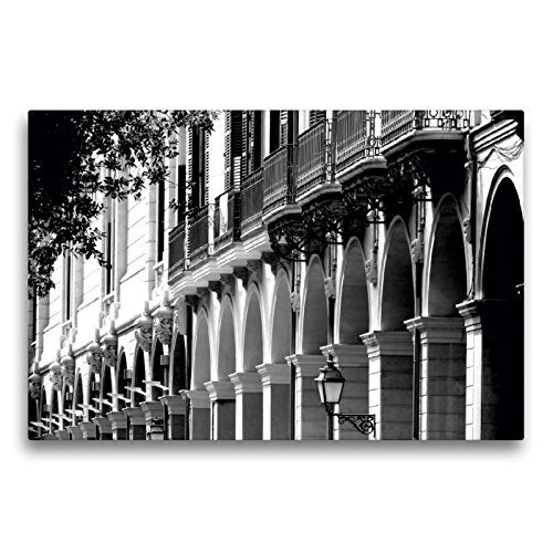 Premium Textil-Leinwand 75 x 50 cm Quer-Format Alte Hausfassaden in Palma de Mallorca | Wandbild, HD-Bild auf Keilrahmen, Fertigbild auf hochwertigem Vlies, Leinwanddruck von happyroger