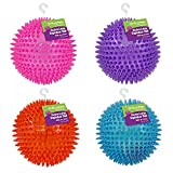 """Gnawsome 4.5"""" Spiky Squeaker Ball Dog Toy - Extra Large, Cleans Teeth and Promotes Good Dental and Gum Health for Your Pet, Colors will vary"""