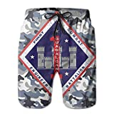 Jiger 1st Marine Division 1st Combat Engineer Battalion Mens Swim Trunks Quick Dry Waterproof Beach Pants Beach Board ShortM