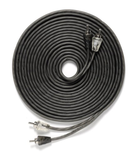 Bravo View 2-Channel 17-Feet Twisted-Pair Car Audio Cable