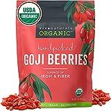 Organic Dried Goji Berries - Non-GMO and Vegan Goji Berries Organic, Perfect for Baking, Teas and...