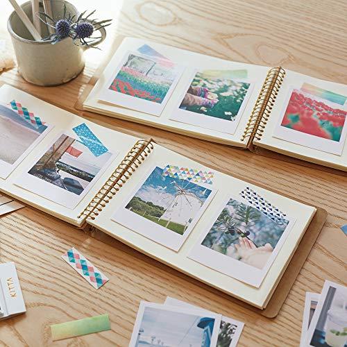 チェキなど、写真を印刷してノートに貼れば、簡単におしゃれなアルバムが完成します♪たくさんの種類のマスキングテープをペタペタ貼って、オリジナリティあふれる一冊にしましょう!アルバムだけでなく、手帳や日記に写真を貼る時にもいいですね。