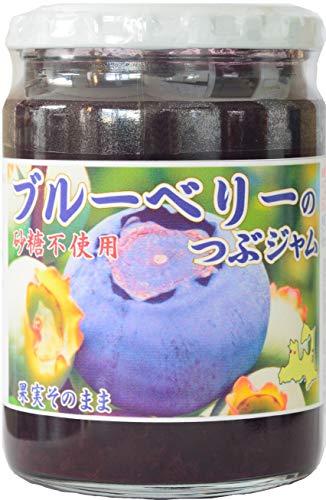 ブルーベリーのつぶジャム(砂糖不使用)360g 【プレザーブスタイル】 砂糖不使用、無保存料ジャム。