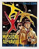 Agente Lemmy Caution Missione Alphaville - Poster cm. 30 x