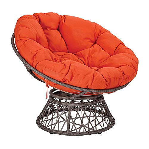 HAOCHI Solid Color Round Thick Egg Hammock Chair Pads,For Indoor Balcony Outdoor Patio Yard Garden,Overstuffed Rattan Papasan With Ties Chair Cushion
