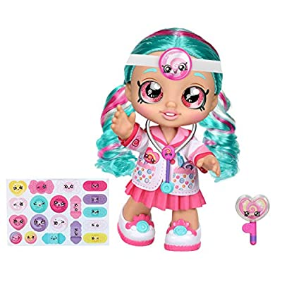 Kindi Kids Fun Time 10 Inch Doll, Dr Cindy Pops with Stethoscope and Shopkins Inspired Lollipop| Changeable Clothes and Removable Shoes | for Ages 3+