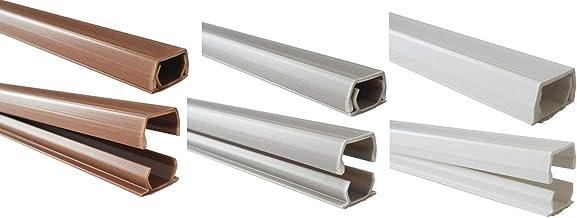 netproshop Kabelgoot 8x9mm binnenmaat PVC (trapeziumvormig, zelfklevend) (1 meter), kleur: grijs