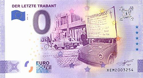 # 0 Euro Schein Deutschland 2020 · Der letzte Trabant · Souvenir o Null € Banknote
