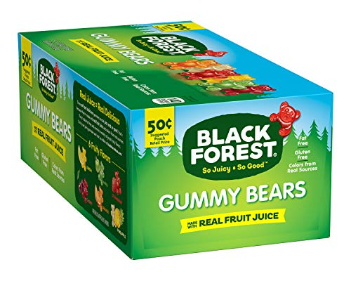 Black Forest Gummy Bears Candy, 1.5 Ounce, Pack of 24