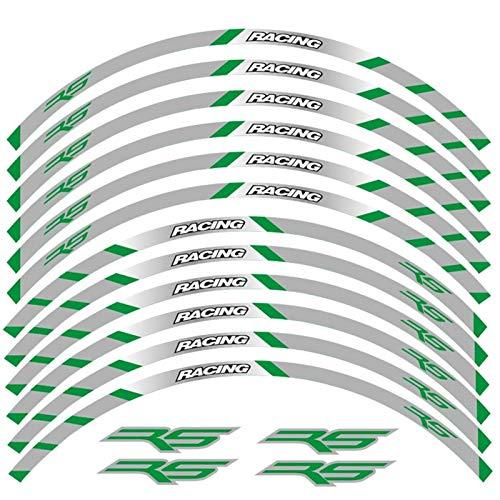 Fuerte 12 Strips Motocicleta Calcomanías Reflectantes Ruedas Moto Rim Pegatinas Decoración Estilo Pegatina RIZ para RS RS125 RS 125 Atractivo (Color : 240322)