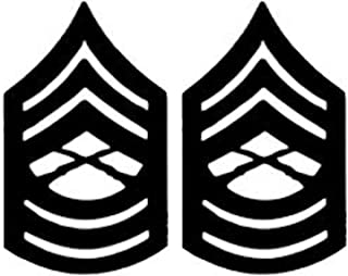 USMC ENLISTED Black Metal Pin-On Rank - Pair