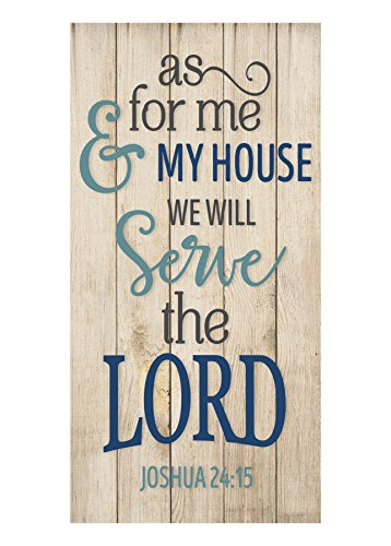 MRC Wood Products As for Me and My House We Will Serve The Lord Rustic Wall Sign 9x18