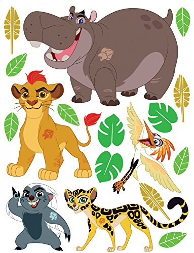 1art1 La Garde du Roi Lion Sticker Adhésif Mural Autocollant - Kion, Fuli, Banga, Beshte, ONO, Disney (85 x 65 cm)