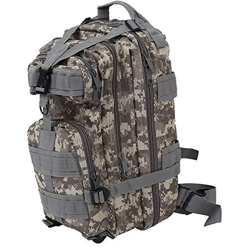 YCX 30L Militaerische Taktische Armee Rucksaecke,Rucksack Camping Wandern Trekking Bag ACU Camouflage,Grau
