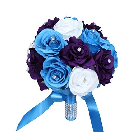 Purple And Blue Bouquet Amazon Com