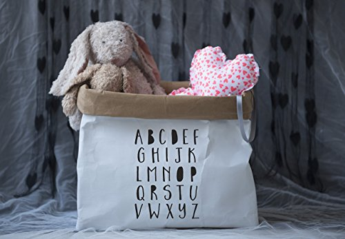 Nursery Storage, Durable Paper Toy Storage Bags, Kids Room Decor, Stuffed Animal Storage