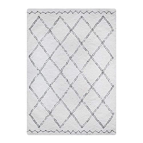 GANE Teppiche Shaggy Einfaches modernes Schlafzimmer Bett Wohnzimmer Couchtisch dekoriert mit Plüsch dekorativ, marokkanische nordische Stil handgefertigte Wolle (Nicht waschbar), B20 * 160CM