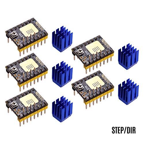 Benkeg Stepper Motor Driver,TMC2130 V3.0 Stepper Motor Driver Silent with Heatsink Step/DIR and SPI Mode 3D Printer Parts Compatible with SKR V1.3 MKS GEN L Control Board