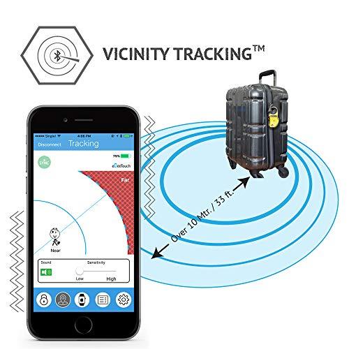 eGeeTouchスマートトラベルロック(TSA南京錠)持ち物のセキュリティー性を高め、持ち物を追跡し盗難や置忘れに役立つスマート機能搭載(黒)