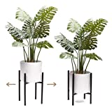 """MODRN KASSA Plant Stand Indoor Adjustable Metal Plant Stand with Mid Century Modern Design for Large Plant Pots (10"""" 11' 12' 13' 14"""" Wide) - Plant and Pot Not Included"""