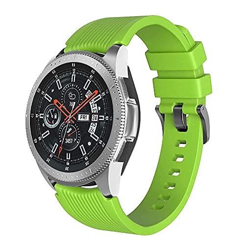 Correa de Reloj 22 mm Compatible para Samsung Galaxy Watch 46 mm / 3 45 mm Correa de Reloj Silicona Correa de Reloj Repuesto Ajustable Compatible con Amazfit Stratos 2 Compatible con Huawei Watch GT