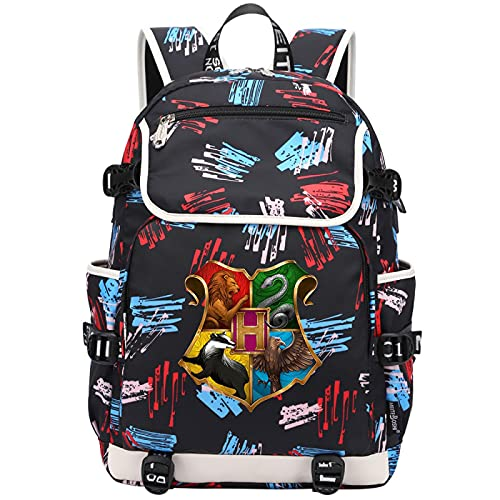 QLma Mochila de viaje para computadora portátil, colorida mochila escolar universitaria para hombres y mujeres con puerto de carga USB mochila para computadora 45x37x16cm (style27)
