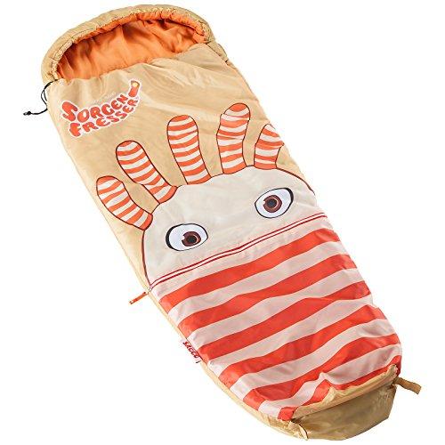 skandika Sorgenfresser Lillifee Schlafsack für Kinder mit großer Tasche, 170 (140 + 30) x 70/45 cm, Polli, Flint, Saggo, Pat, Enno, Lilli (Saggo)