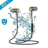 Ecouteur Bluetooth Sans Fil ,Pomisty Ecouteur Sport Bluetooth 5.0 ,IPX7 Étanche Ecouteurs Bluetooth, Casque Bluetooth HiFi Stéréo Écouteurs Intra-Auriculaires avec Micro pour Course/Gym/Jogging