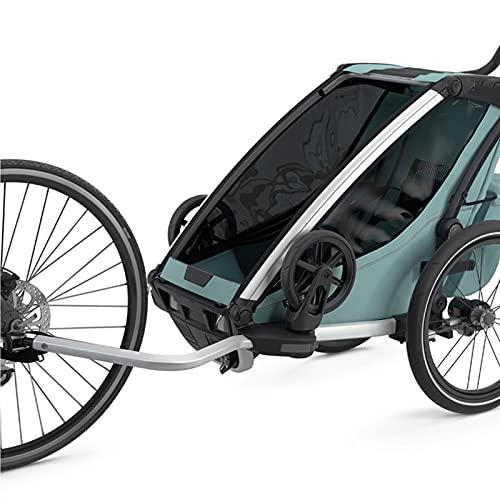 HXXXIN Remolque De Bicicleta Remolque Deportivo Multifuncional Amortiguador Al Aire Libre para Padres E Hijos Bicicleta De Remolque De Empuje para Niños Reclinables