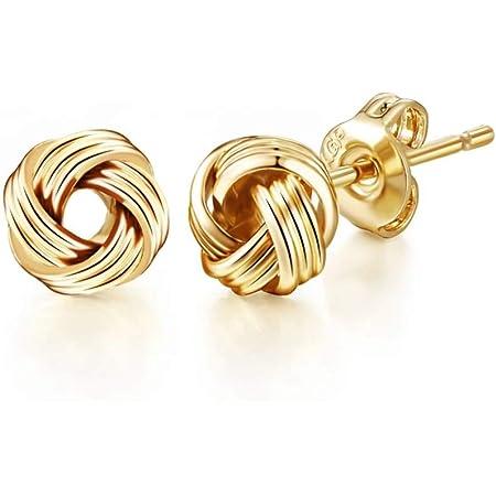 Gold Love Knot Earrings