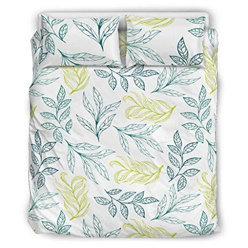 Colcha Edredón Flores Fundas Nórdicas Ropa de cama Estilo Europeo Color Oscuro Cama Doble Blanco 229x229cm
