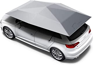 Audi Q8 Car Cover, Automatic Folded Umbrella Shelter 4.5 x 2.3 Meters with Remote Control, Portable Auto Protection Car Hood, Tradoo CarShade - Silver