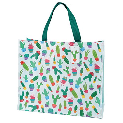 Einkaufstasche Kaktus Design aus stabilem Polypropylen