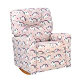Dozydotes Contemporary Fairytale English Kids Rocker Recliner Chair