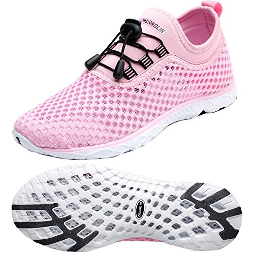 Zhuanglin Women's Quick Drying Aqua Water Shoes,Pink,6.5 B(M) US